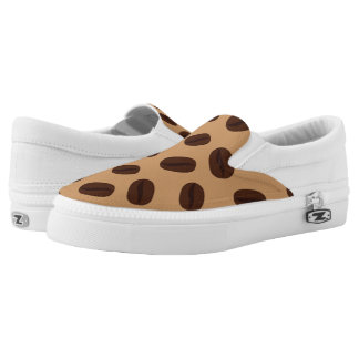 Cool Brown Coffee beans pattern Slip-On Shoes
