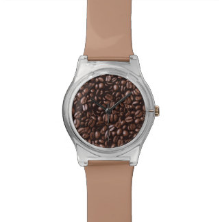 Cool Brown delicious Coffee beans Wrist Watch