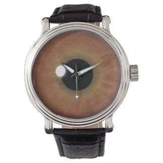 Cool Brown Eye Iris Eyeball Custom Wrist Watch