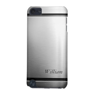 Cool Brush Metal Stainless Steel Look with Name iPod Touch (5th Generation) Case