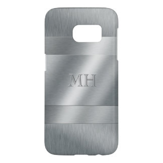 Cool Brushed Metal Look Monogram