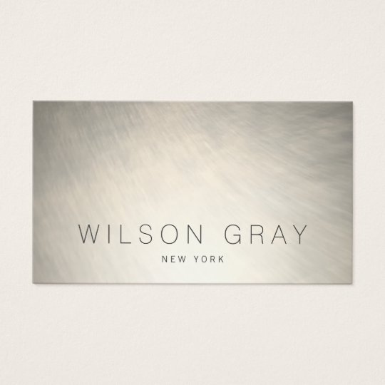 Cool Brushed Silver Modern Chic Industrial Business Card
