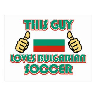 cool BULGARIAN soccer fan DESIGNS Postcard