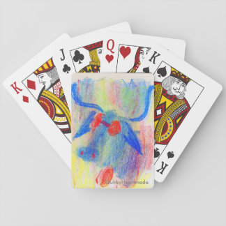 Cool Bull Chalk Drawing Playing Cards