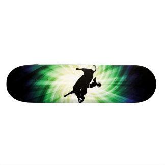 Cool Bull Rider Silhouette Custom Skate Board