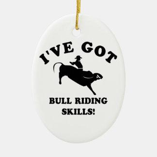 cool bull riding designs ceramic oval decoration