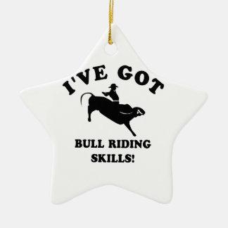 cool bull riding designs ceramic star decoration