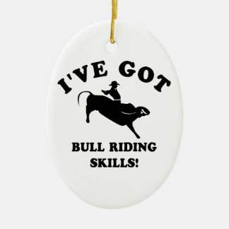 cool bull riding designs christmas ornament