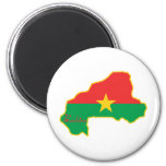 Cool Burkina Faso Refrigerator Magnet