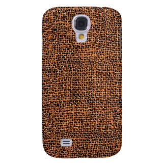 Cool Burlap Texture Samsung Galaxy S4 Covers
