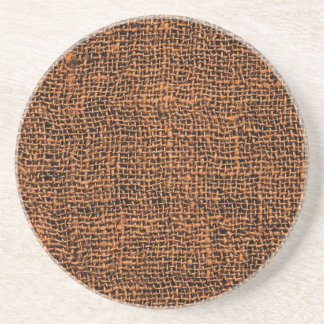 Cool Burlap Texture Coaster