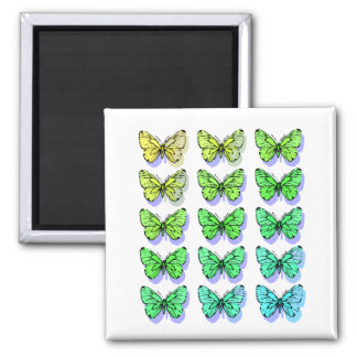 Cool Butterflies Square Magnet