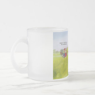 cool caddie frosted glass coffee mug