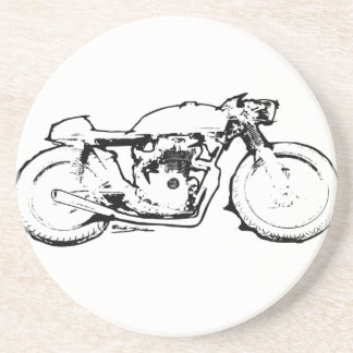 Cool Cafe Racer Motorcycle Drawing Coaster