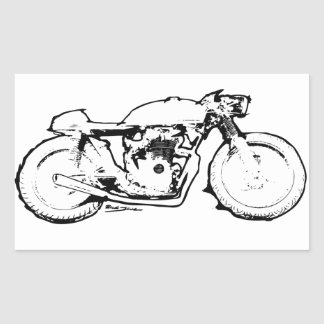 Cool Cafe Racer Motorcycle Drawing Sticker