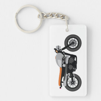 Cool Cafe Racer / Tracker Motorcycle Vintage bike Double-Sided Rectangular Acrylic Key Ring