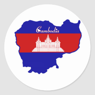 Cool Cambodia Classic Round Sticker