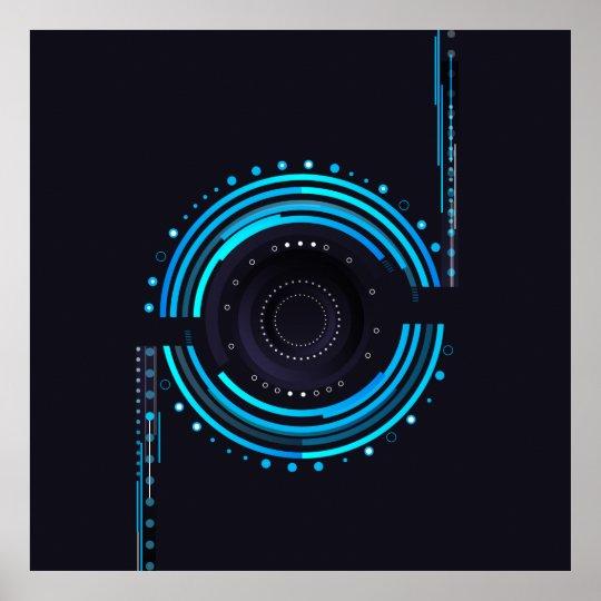 Cool camera lens design poster