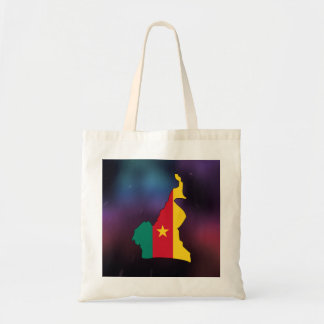 Cool cameroon Flag Map Budget Tote Bag