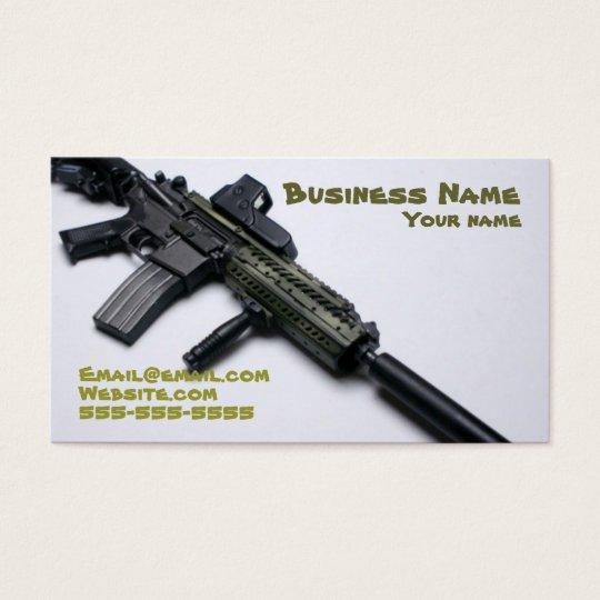cool camo firearms business card