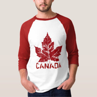 Cool Canada Jersey Retro Maple Leaf Souvenir Tee Shirts