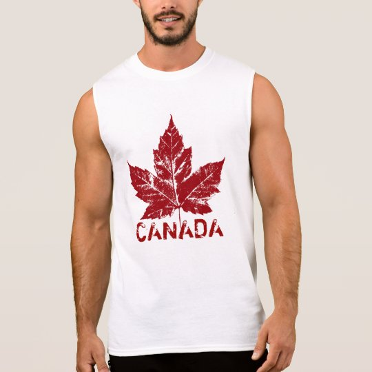 Cool Canada Muscle Shirt Retro Maple Leaf Souvenir