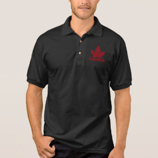 Cool Canada Polo Shirt Retro Maple Leaf Shirts