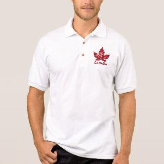 Cool Canada Polo Shirt Retro Maple Leaf Souvenir