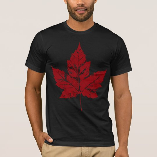 Cool Canada T-Shirt Retro Maple Leaf Tee Shirt