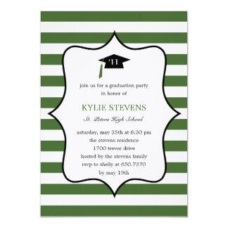 Cool Cap Graduation Invitation - Green Personalized Invite