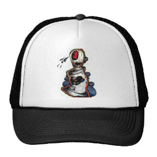 cool cap with graffiti of one tin of graffiti mesh hats