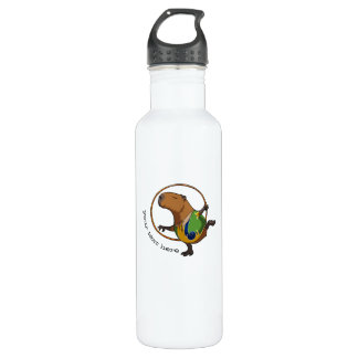 Cool Capybara Gymnast Hoop Personalized Cartoon 710 Ml Water Bottle