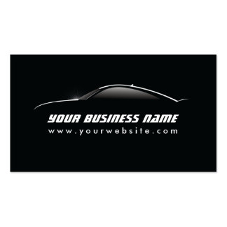 Cool Car Outline Auto Repair business card