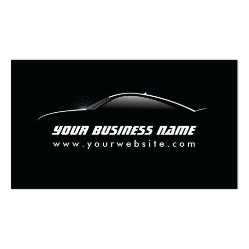 Cool Car Outline Auto Repair business card