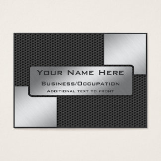 Cool Carbon Fibre and Brushed Steel Look Business Card