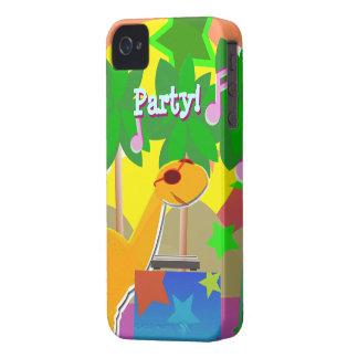 Cool Cartoon Dinosaur DJ Party BlackBerry Case