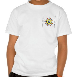 Cool cartoon tattoo symbol Earth Sun Tee Shirts