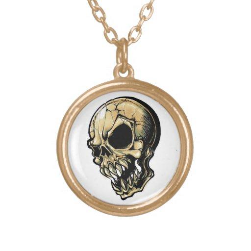 Cool cartoon tattoo symbol evil ink skull custom jewelry