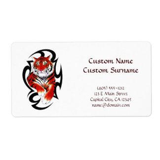 Cool cartoon tattoo symbol feral Tribal Tiger