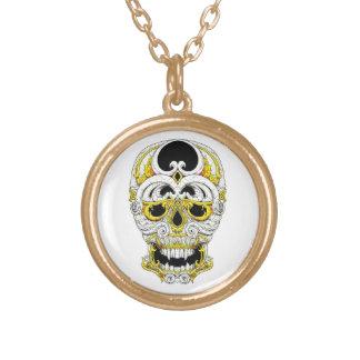 Cool cartoon tattoo symbol gothic ornament skull custom necklace