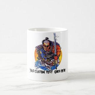 Cool cartoon tattoo symbol japanese Samurai Katana Basic White Mug