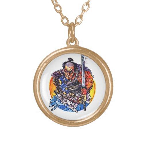 Cool cartoon tattoo symbol japanese Samurai Katana Custom Jewelry