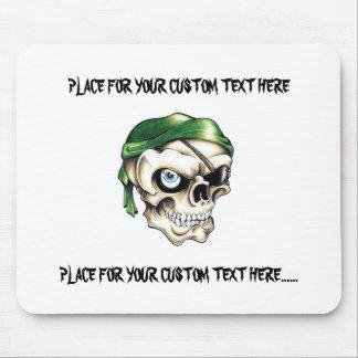 Cool cartoon tattoo symbol pirate skull bandana mouse mat