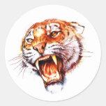 Cool cartoon tattoo symbol roaring tiger head