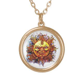 Cool cartoon tattoo symbol Sun God Face Custom Jewelry