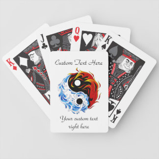 Cool cartoon tattoo symbol water fire Yin Yang Bicycle Playing Cards