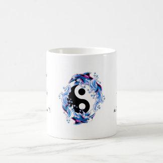 Cool cartoon tattoo symbol Yin Yang Dolphins Basic White Mug