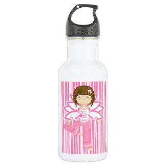 Cool Cartoon Yoga Girl 532 Ml Water Bottle