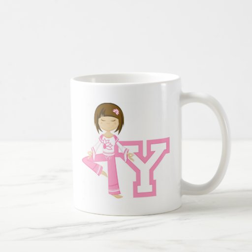 Cool Cartoon Yoga Girl Coffee Mug