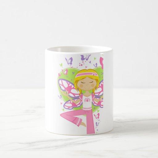 Cool Cartoon Yoga Girl Mug